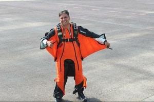 Tarun Chaudhri perform Wingsuit Skydive Jump