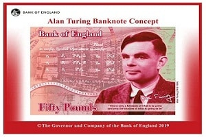UK's new £50 pound note features codebreaker Alan Turing