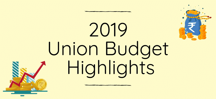 Highlights Of Union Budget 2019 20 Pdf