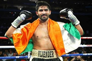 Vijender Singh clinched his 11th consecutive win