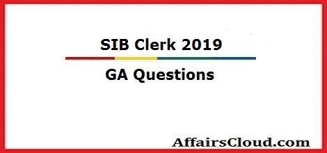 SIB Clerk GA