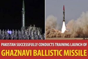 'Ghaznavi' surface-to-surface ballistic missile test fired by Pakistan