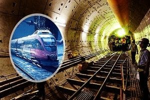 India's first underawater train