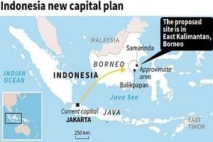 Indonesia chooses East Borneo Island for its new capital