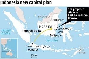 Indonesia chooses East Borneo Island for its new capital