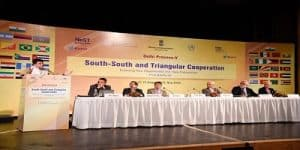 International dialogue on South-South and Triangular Cooperation addressed by Commerce & Industry Minister