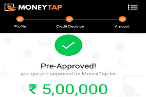 'MoneyTap' provides lifetime credit of up to ₹5 lakh Instantly