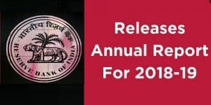 RBI releases its Annual Report for the year 2018-19