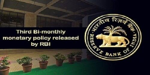 Third Bi-monthly Monetary Policy of RBI 2019-20