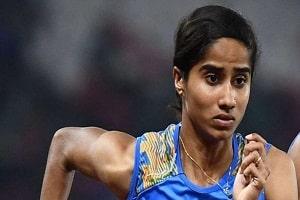 V K Vismaya wins gold in women's 400m