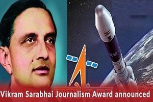 Vikram Sarabhai Journalism Award in Space science
