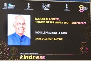 World Youth Conference on Kindness inaugurated by Indian President