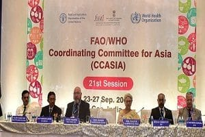 21st session of FAO-WHO Coordinating Committee of Asia for 2019