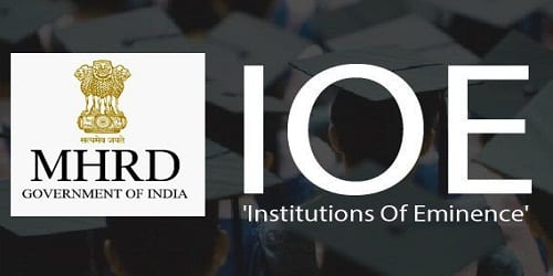 5 public institutes were awarded IoE status by the HRD Ministry.