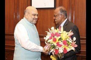 Amit Shah meets his Singaporean counterpart