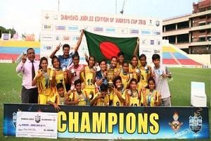 Bangladesh Krida Shiksha Prothishtan (BKSP) successfully lifts U17 Girls Subroto Cup International Football 2019 title