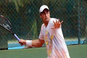 Brazilian tennis player Diego Matos