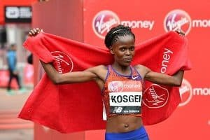 Brigid Kosgei of Kenya ran fastest half marathon ever by a woman in 2019
