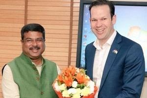 Dharmendra Pradhan held meeting with Australian Minister for Resources and Northern Australia Senator, Matthew Canavan in New Delhi