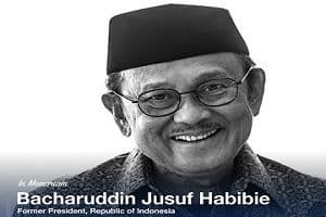 Former Indonesian president Bacharuddin Jusuf Habibie