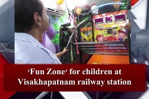 Fun zone has been set up by the Railways