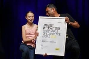Greta Thunberg wins 2019 Amnesty's 'Ambassadors of Conscience' award