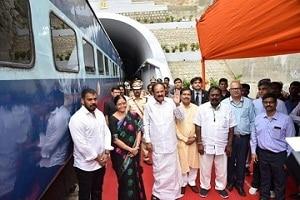 India's longest electrified rail tunnel in Andhra Pradesh inaugurated