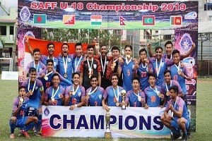 India lift 2019 SAFF U-18 football C'ship title
