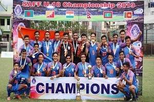 India lift 2019 SAFF U-18 football C'ship title