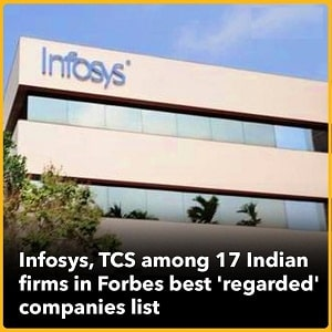 Infosys tops Indian companies in Forbes' World's best 'regarded'