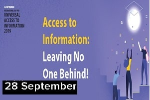 International Day for Universal Access to Information 2019