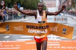 Kenya's Kamworor creates world record