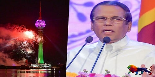 Maithripala Sirisena unveiled Lotus tower- the tallest tower of South Asia