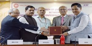 Ministry of railways & Confederation of Indian Industries (CII) sign MoU