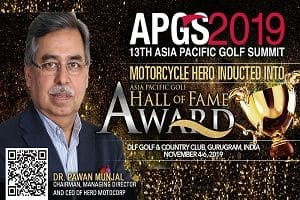 Pawan Munjal to be inducted in 2019 Asia Pacific Golf Hall of Fame