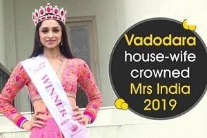 Pooja Desai from Guajarat crowned as Mrs India 2019
