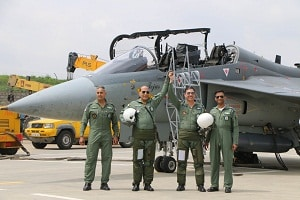 Rajnath Singh becomes first Indian defence minister to fly in home-built LCA Tejas from the HAL Airport, Bengaluru
