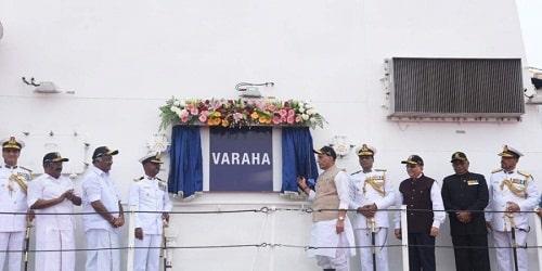 Rajnath Singh commissions ICGS Varaha
