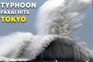 Typhoon Faxai hits Tokyo