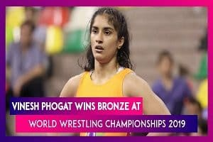 Vinesh Phogat wins Bronze- maiden Wrestling World Championships 2019