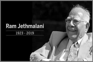 former Union minister Ram Jethmalani