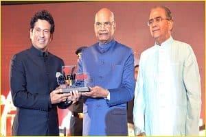 2019 Swachchta Ambassador award to Sachin Tendulkar