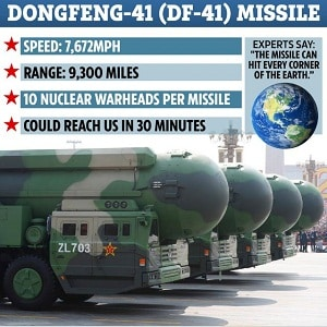 China unveiled DF-41