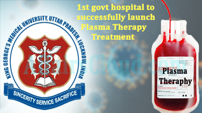 1st govt hospital in country to successfully launch Plasma Therapy Treatment