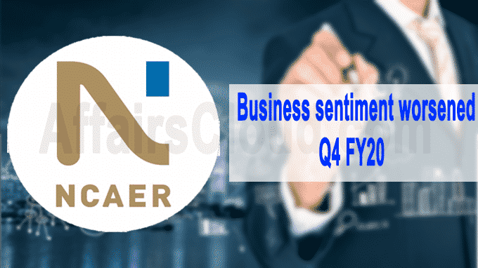 Business sentiment worsened in Q4 FY20