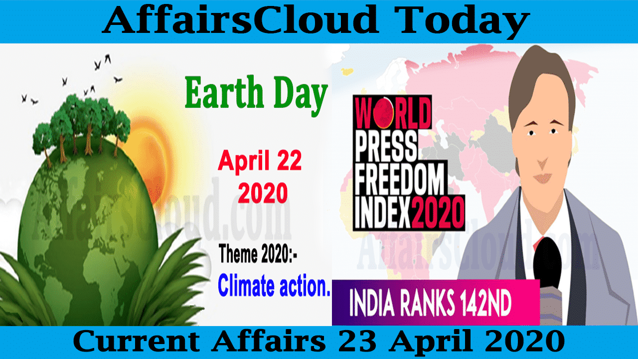 Current Affairs 23 April 2020 new