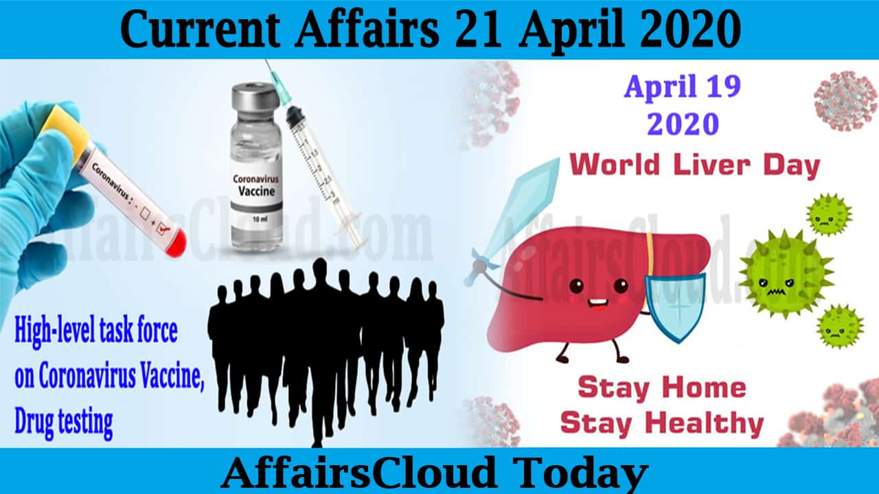 Current Affairs April 21 2020
