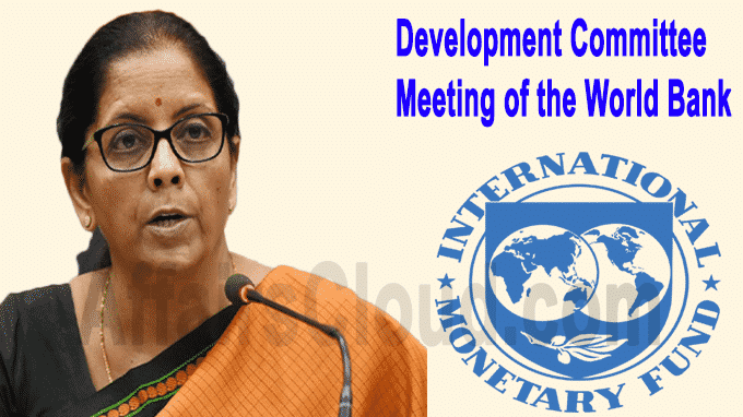Development Committee Meeting of the World Bank