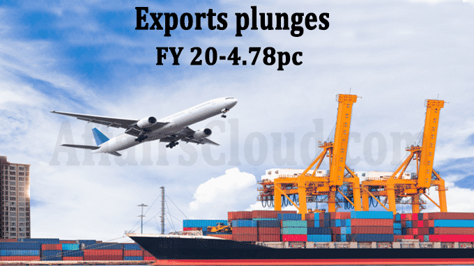 Exports plunges