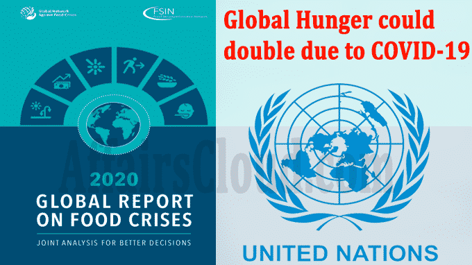 Global hunger could double due to COVID-19